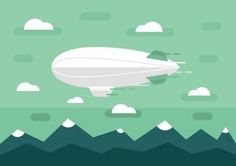 Transport ilustracji wektorowych obiektów do projektowania
