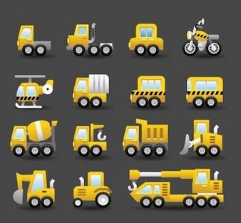 Transport samochodowy ciężarówki wektor opakowanie