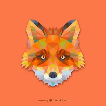 Trójkąt czerwony design Fox