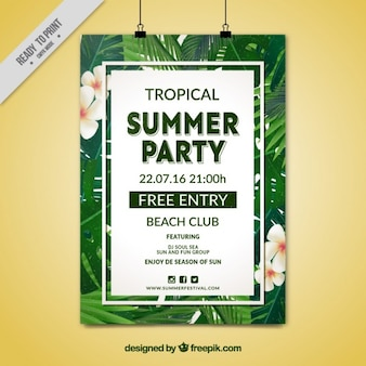 Tropical Summer Party plakat