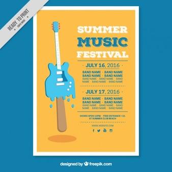 Twórcze lato szablon ulotki festiwalu