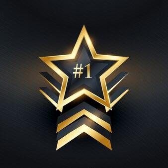 Twórczy gwiazda nr 1 zwycięzca projekt etykiety