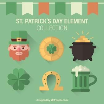 Typowe elementy Saint Patrick kolekcji