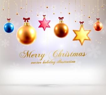 Uroczystości grudnia tle xmas kulki