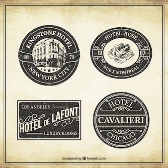 Vintage Hotel etykiety kolekcji