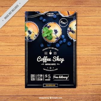 Vintage kawiarnia broszura