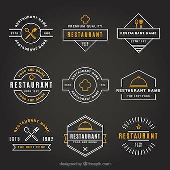 Vintage logo restauracji z eleganckim stylem