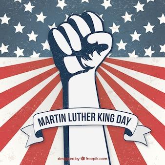 Vintage Martin Luther King Day pięść tła