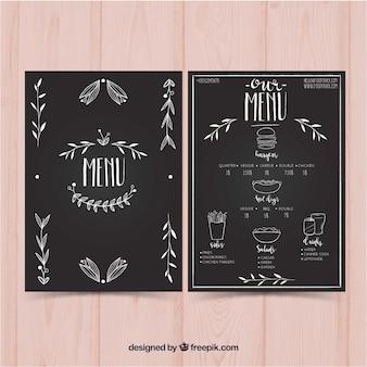 Vintage menu żywnościowego szablonu menu