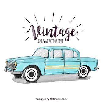 Vintage samochód ilustracji
