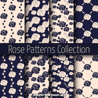 Vintage wzory róż
