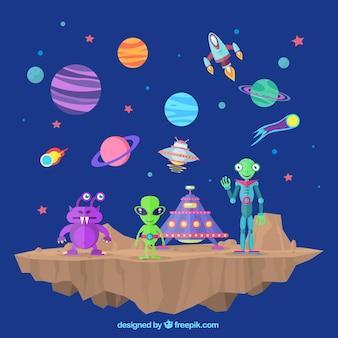 W przestrzeni kosmicznej i obcy