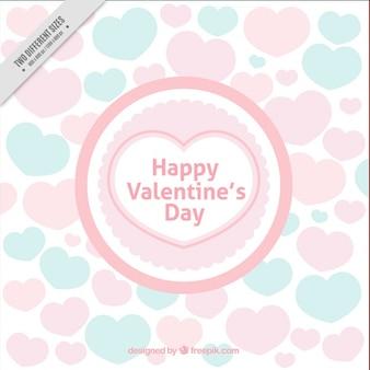 Walentynki tła z sercem w pastelowych kolorach