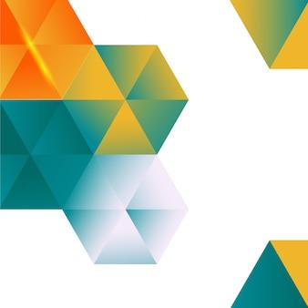 Wektor abstrakcyjna kolor 3d sześciokątne.