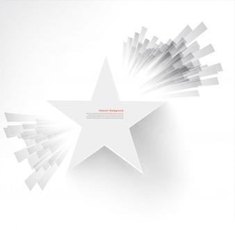 Wektor biała gwiazda. Promienie i eksplozja
