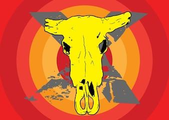wektor czaszki krowy