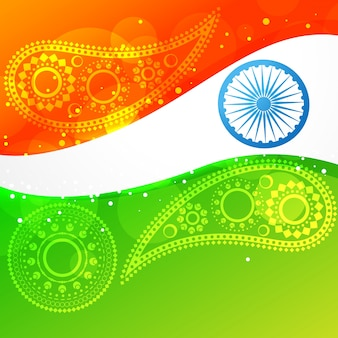Wektor fala styl indian flagi projektowania