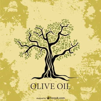 Wektor ilustracja drzewa oliwnego