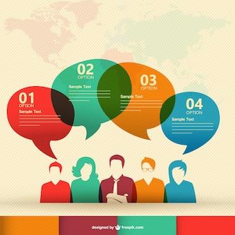 Wektor infografika komunikacja ludzka