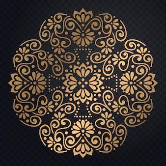 Wektor luksusowe zaproszenie na ślub z mandali