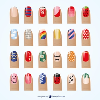 Wektor manicure style