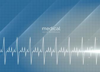 Wektor medycznych tła z heartbeal linii
