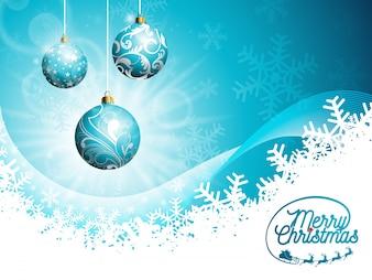 Wektor Merry Christmas Holidays i Szczęśliwego Nowego Roku ilustracja z projektu typograficznego