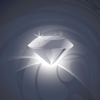 Wektor piękny projekt diamentowy