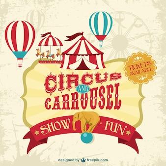 Wektor plakat cyrkowy pokaz