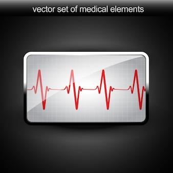 Wektor serca wykres beat