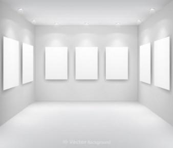Wektor swobodny tło wyświetlacza galeria muzeum jasne światło biały kwadrat ściana