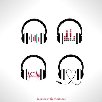 Wektor zestaw słuchawek
