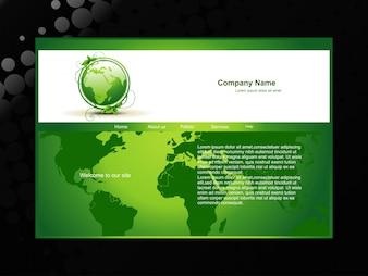 Wektor zielony ecofriendly stronie internetowej