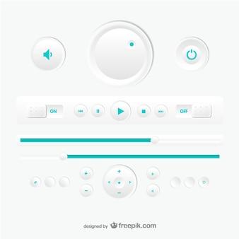 Wektora projektowania odtwarzacz multimedialny