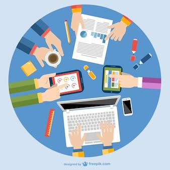 Wektora projektowania pracy zespołowej