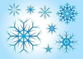 wektorów swobodnych śniegu