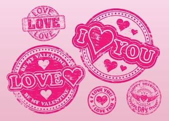wektorów znaczki miłość