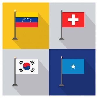 Wenezuela Szwajcaria Korei Południowej i Somalii