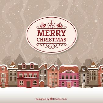 Wesołych kartki świąteczne z miejskiego krajobrazu