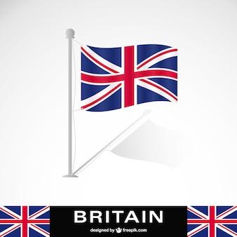 Wielka Brytania flaga wektor darmo