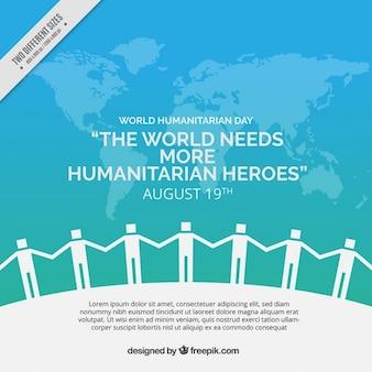 Wielka Ludzie tła humanitarna