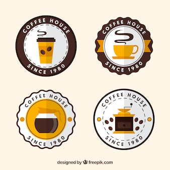 Wielka paczka dekoracyjnych odznaki dla kawiarni