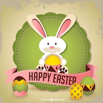 Wielkanoc, królik sztuka wektor
