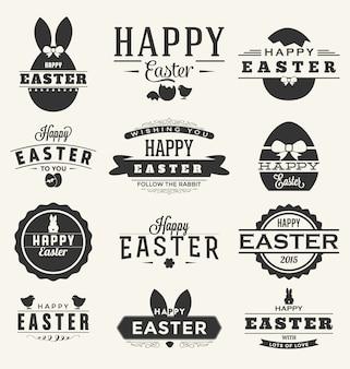 Wielkanoc etykiety kolekcji