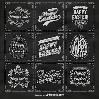 Wielkanoc etykiety na tablicy