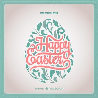 Wielkanoc karty z ozdobnymi jaj