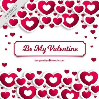 Wielkiej Walentynki tło z białymi i różowe serca