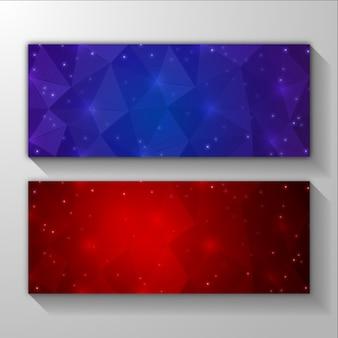 Wielokątny abstrakcyjne tło banner