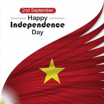 Wietnam dzień niezależności tle