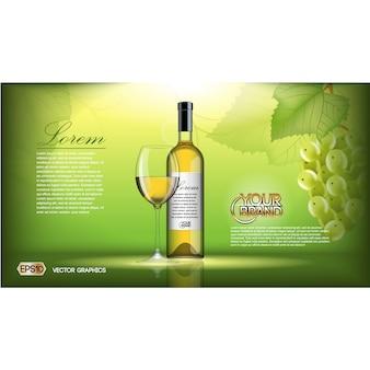 Wino broszura szablon
